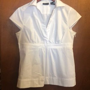 Short-sleeve white blouse